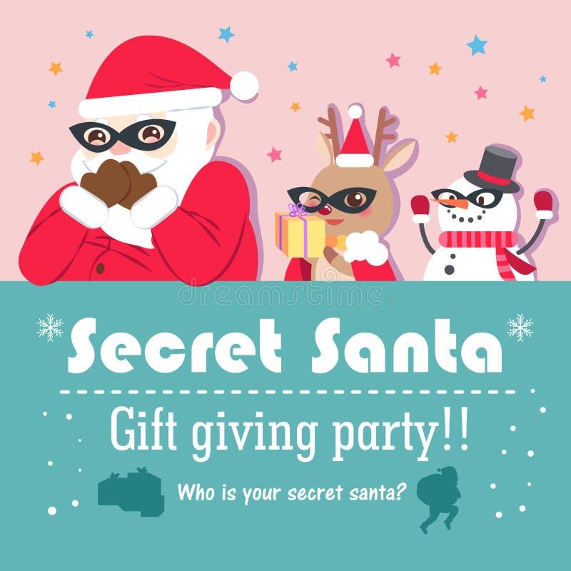 Kreskówka sekret Santa ilustracji