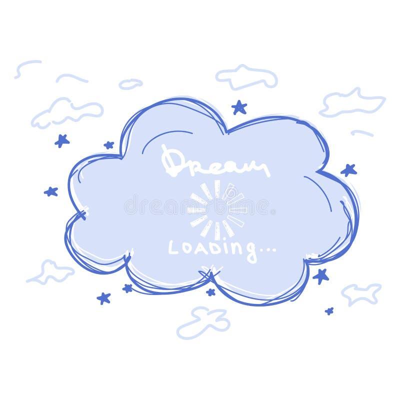 Kreskówka sen chmura ilustracji