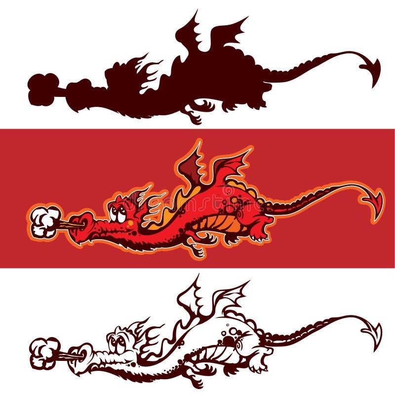 kreskówka smok ilustracja wektor