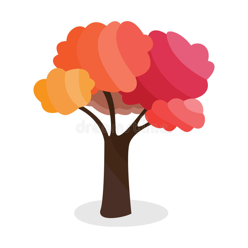 Kreskówka spadku drzewo ilustracji