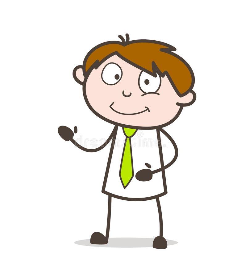 Kreskówka sprzedawcy prezentaci wyrażenia wektor ilustracja wektor