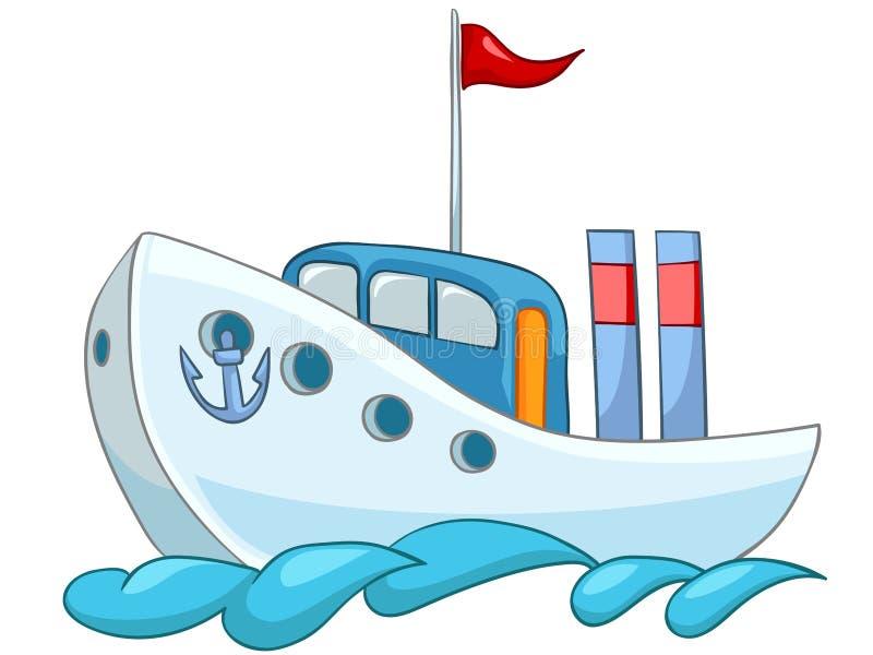 kreskówka statek royalty ilustracja