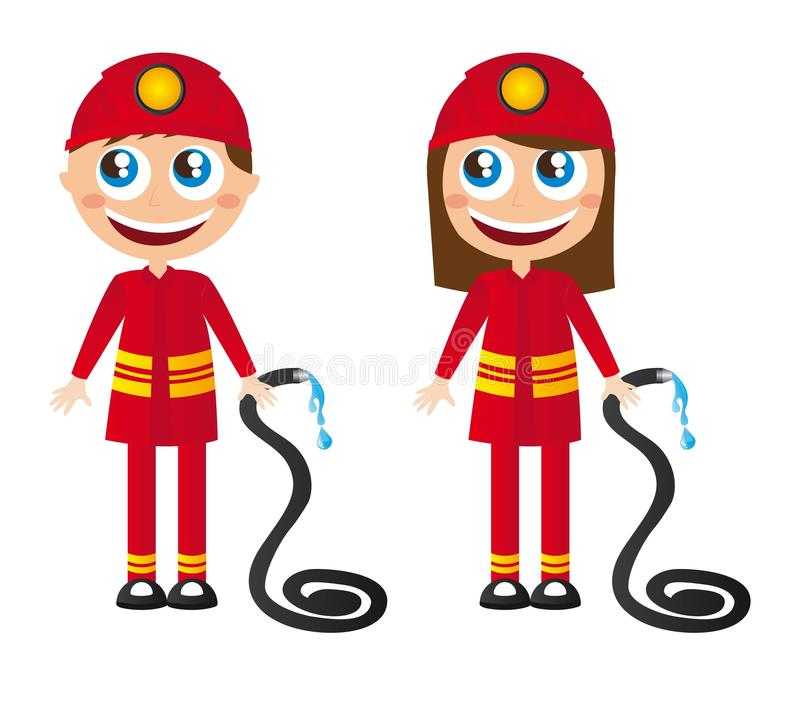 kreskówka strażacy royalty ilustracja