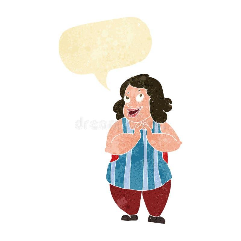 kreskówka szczęśliwy kucharz z mowa bąblem ilustracji