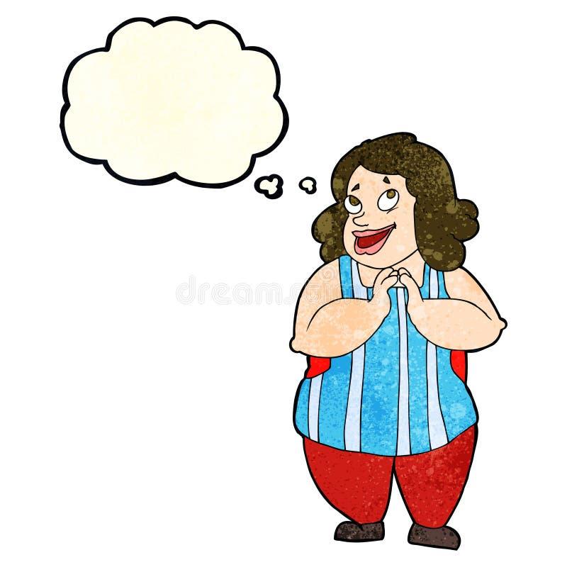 kreskówka szczęśliwy kucharz z myśl bąblem ilustracji