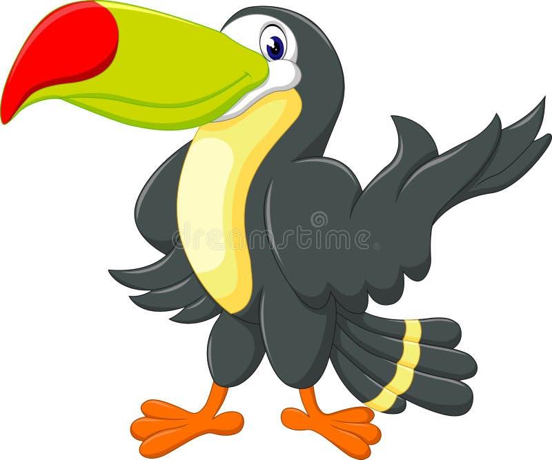 Kreskówka szczęśliwy ptasi pieprzojad ilustracji
