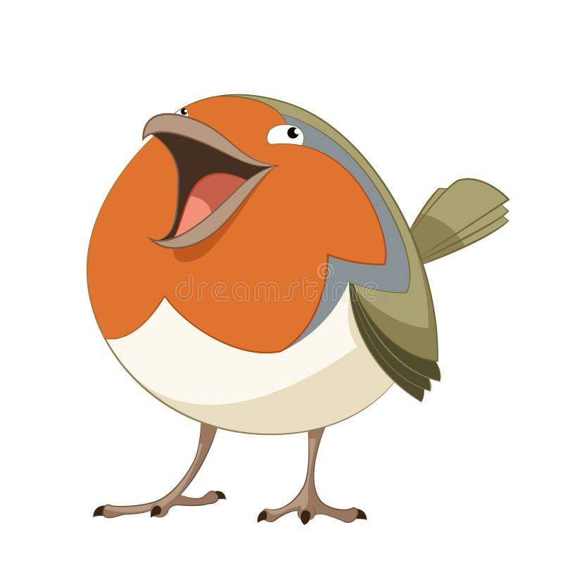 Kreskówka szczęśliwy rudzik ilustracja wektor