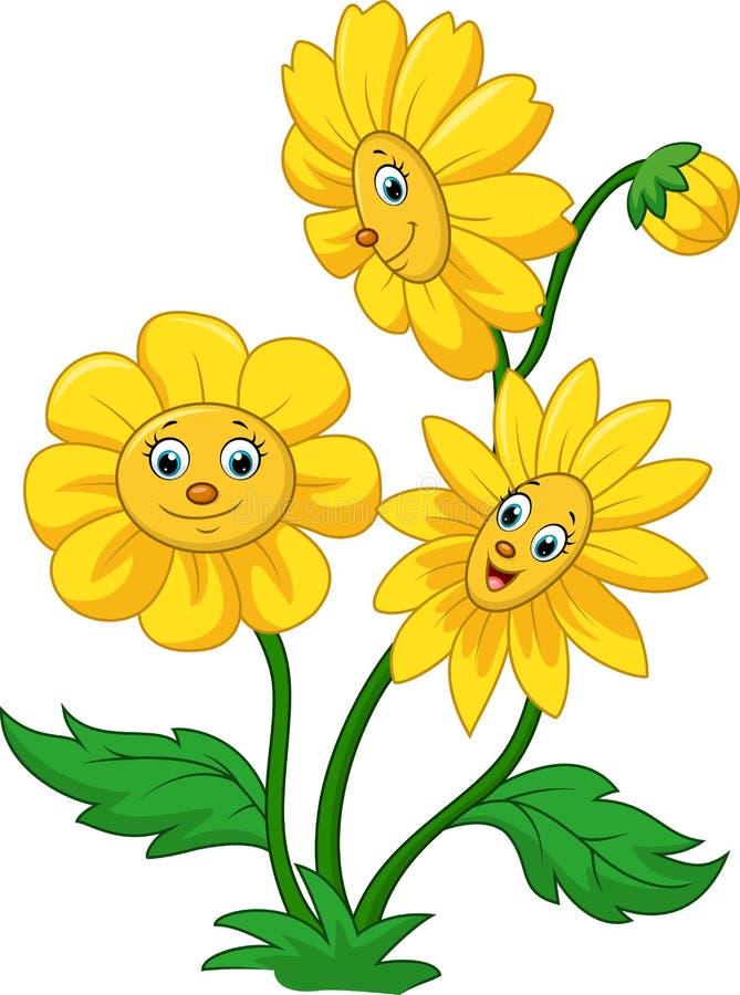 Kreskówka szczęśliwy słonecznik royalty ilustracja