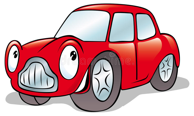 Kreskówka szczęśliwy samochód royalty ilustracja