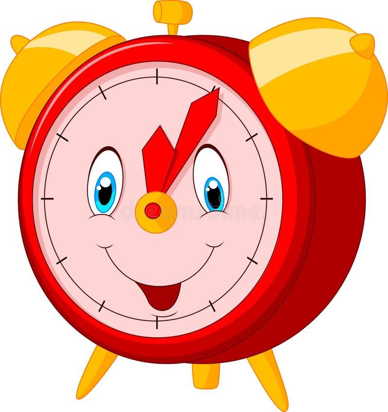 Kreskówka szczęśliwy zegar ilustracja wektor