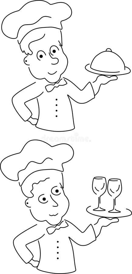 kreskówka szef kuchni royalty ilustracja