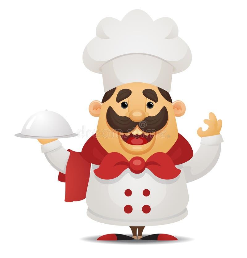 kreskówka szef kuchni ilustracja wektor