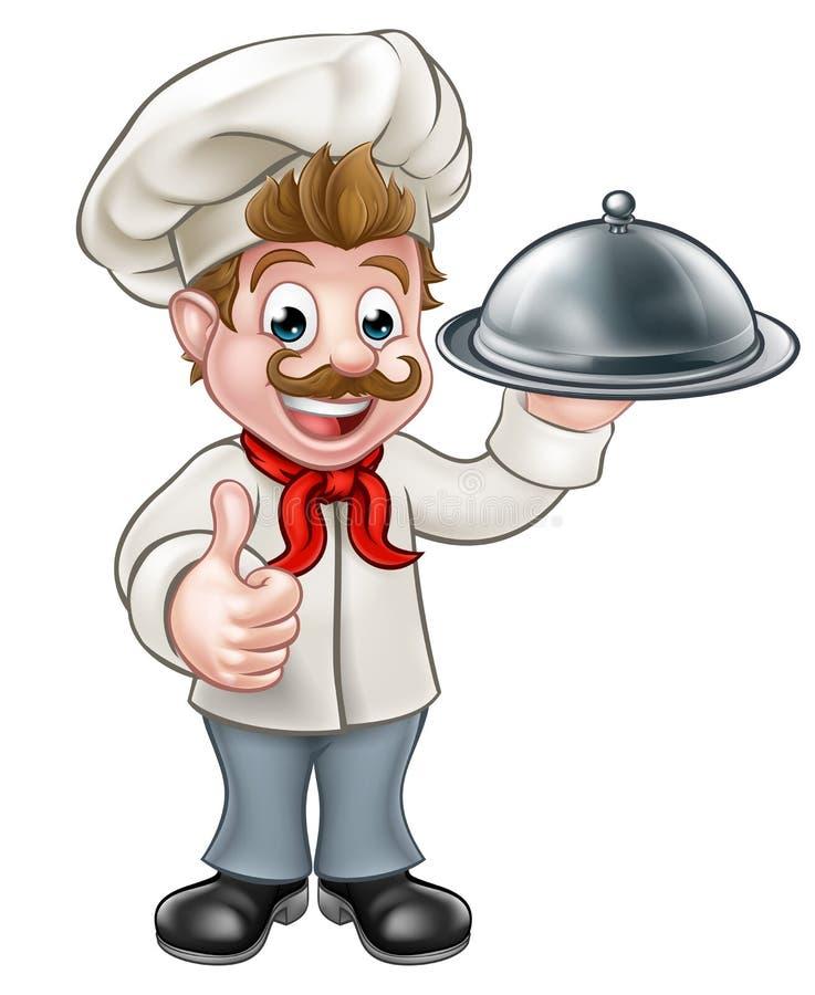 kreskówka szef kuchni ilustracji