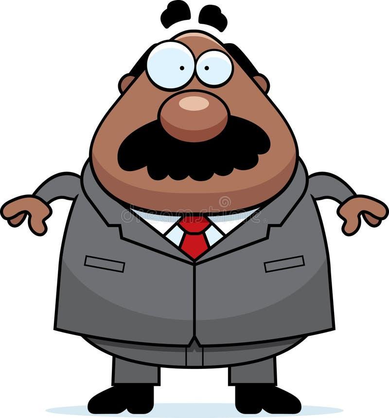 Kreskówka szefa wąsy ilustracji