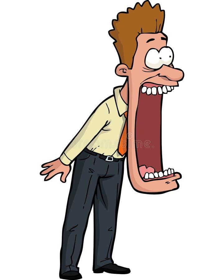 kreskówka szokujący mężczyzna royalty ilustracja