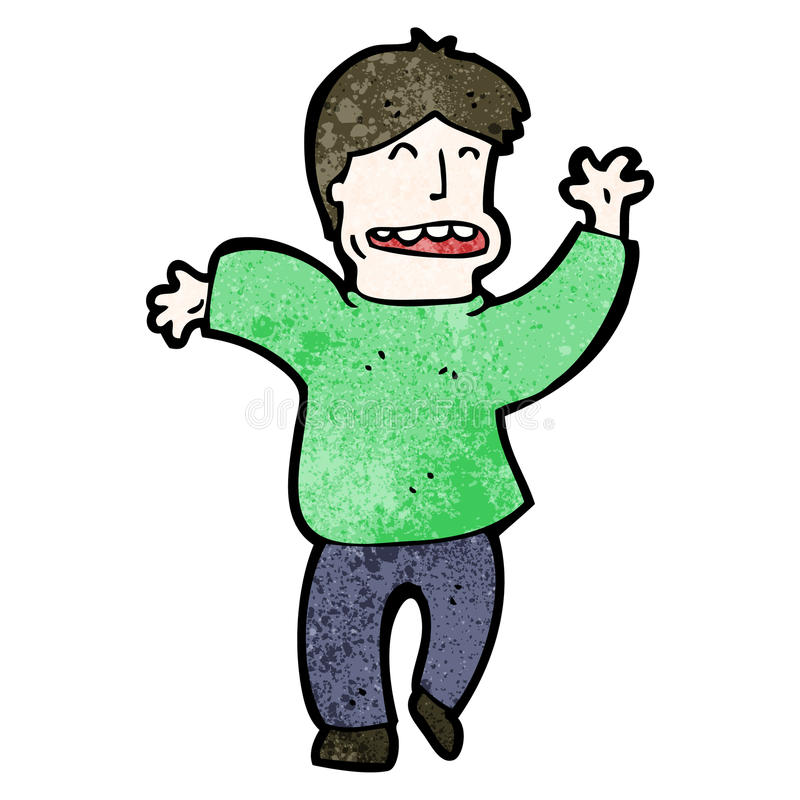 kreskówka tana szalony mężczyzna ilustracji