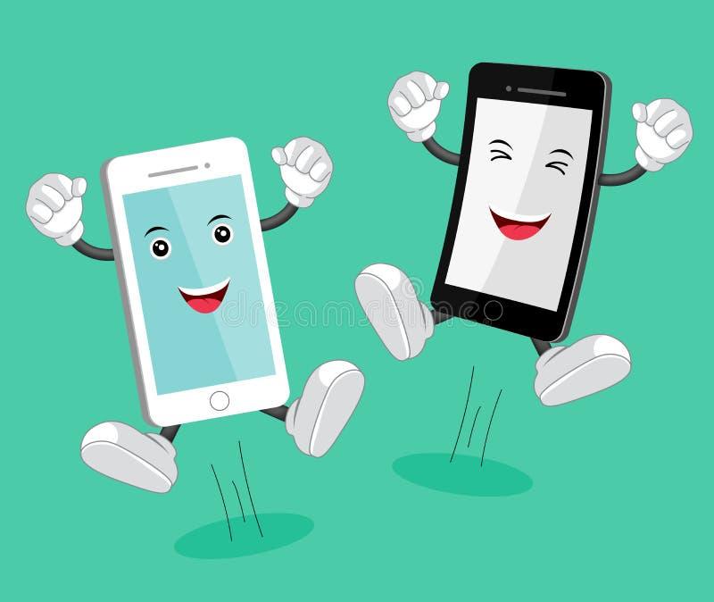 Kreskówka telefonu komórkowego maskotka royalty ilustracja