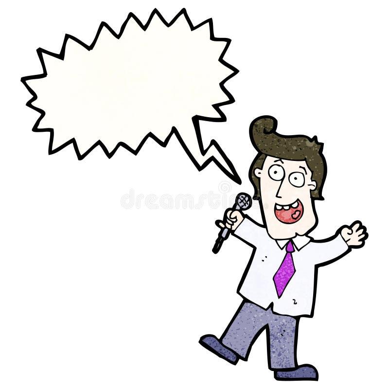 kreskówka teleturnieju gospodarz ilustracja wektor