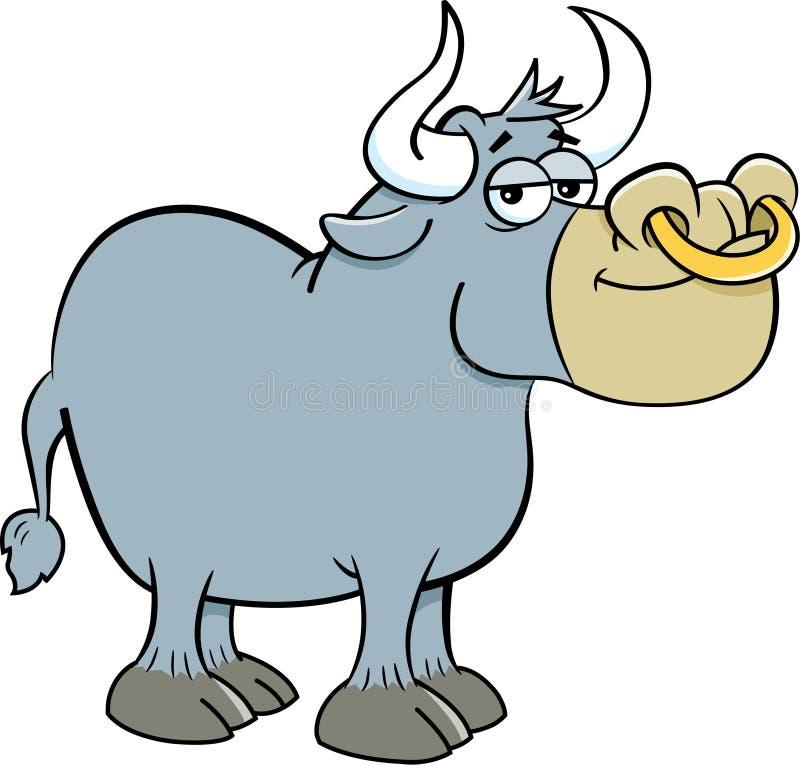 Kreskówka uśmiechnięty byk ilustracji