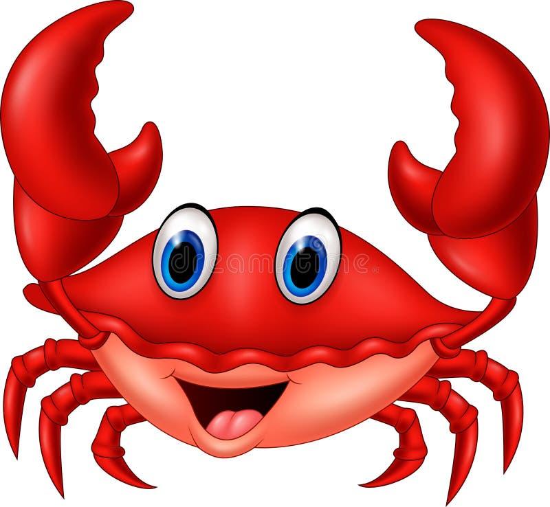 Kreskówka uśmiechnięty krab ilustracja wektor