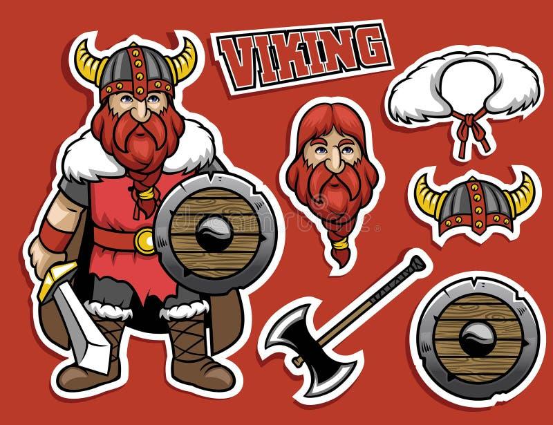 Kreskówka Viking wojownik ilustracji