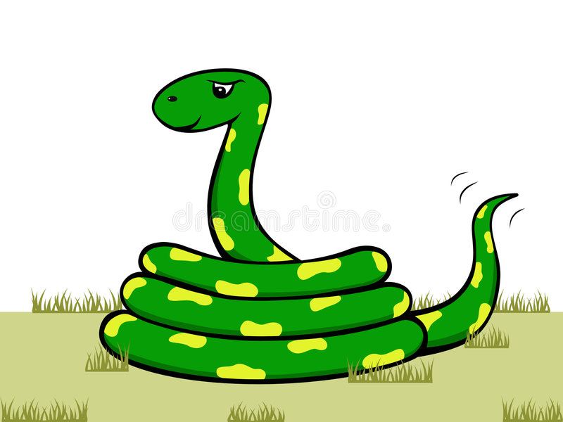 kreskówka wąż ilustracja wektor