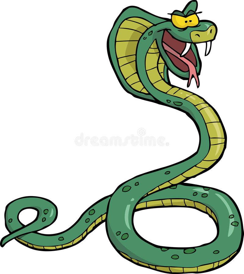 Kreskówka węża kobra royalty ilustracja