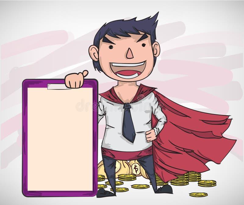 Kreskówka wektorowy biznesowy mężczyzna ilustracja wektor