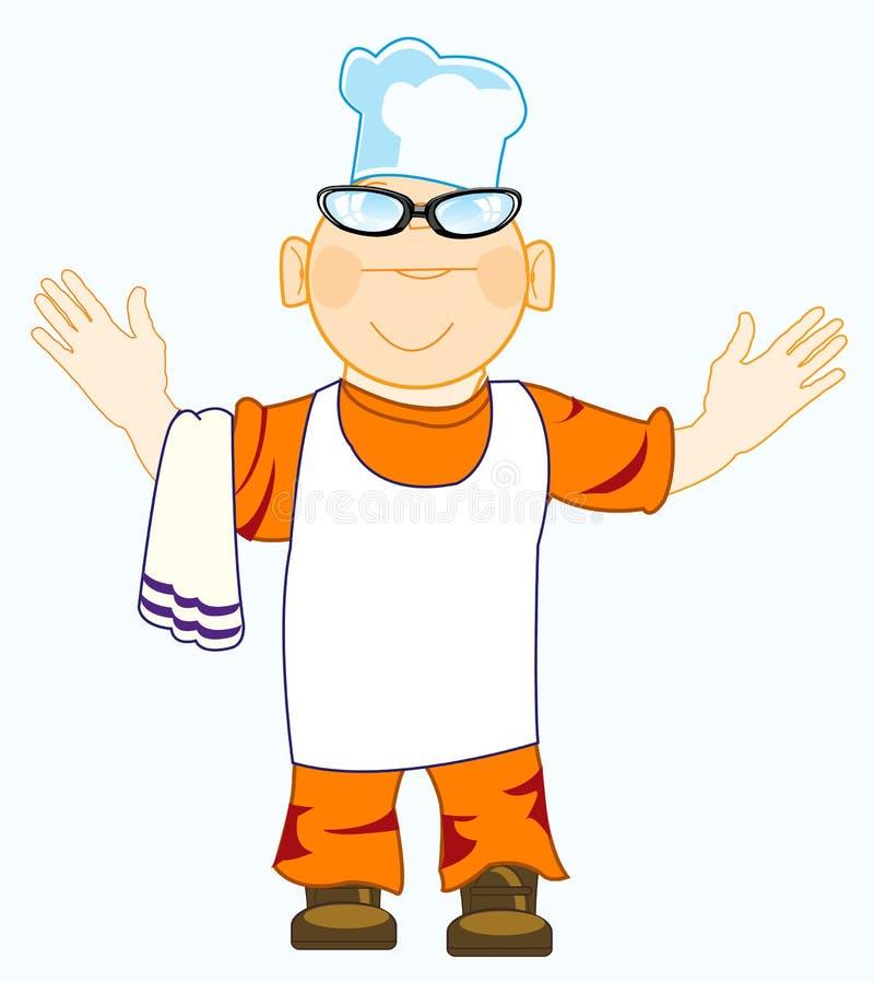 Kreskówka wesoło kucharz ilustracja wektor