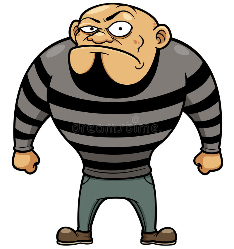 Kreskówka więzień ilustracji