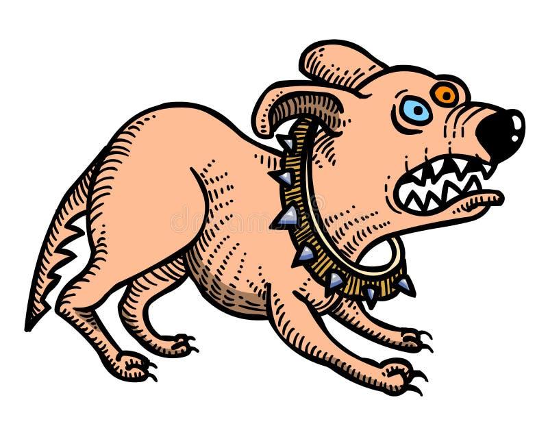 Kreskówka wizerunek dokuczający pies royalty ilustracja