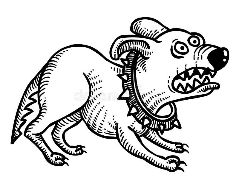 Kreskówka wizerunek dokuczający pies ilustracji