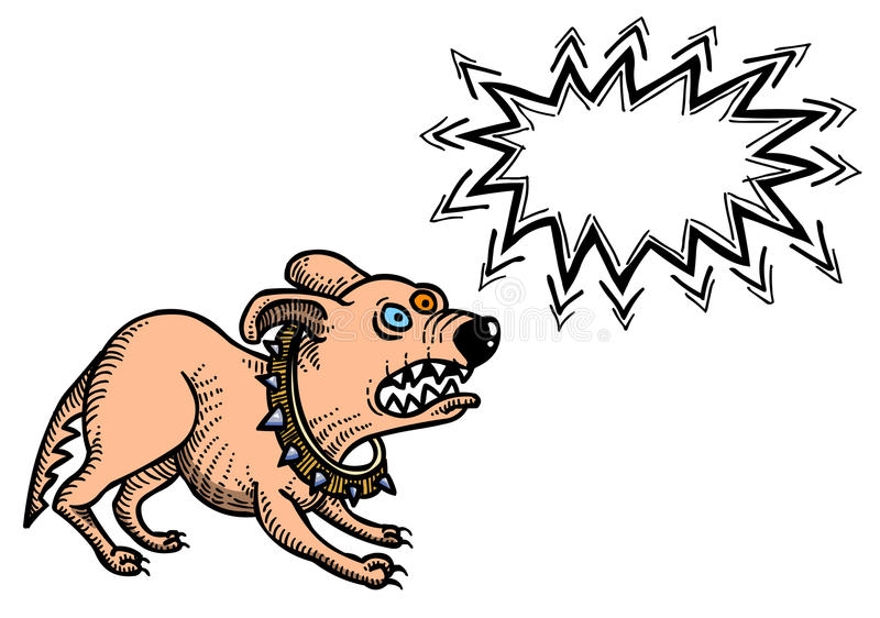 Kreskówka wizerunek dokuczający pies ilustracja wektor