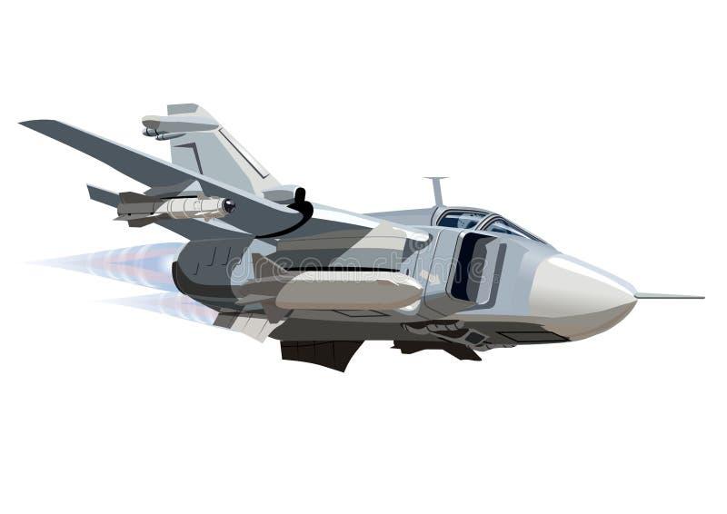 Kreskówka wojskowego samolot royalty ilustracja