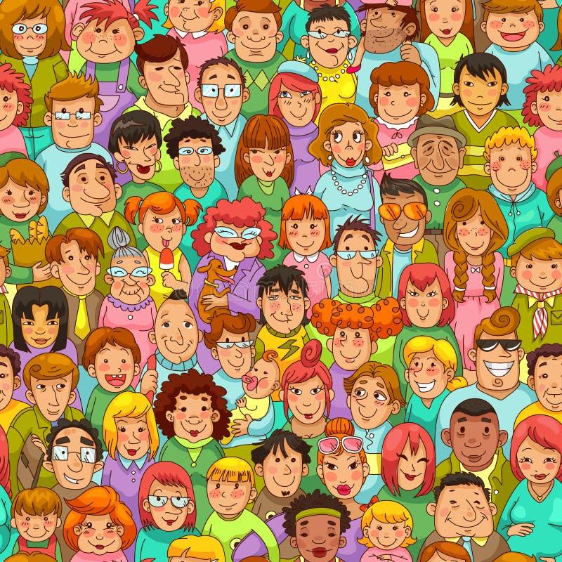 Kreskówka wzoru ludzie royalty ilustracja