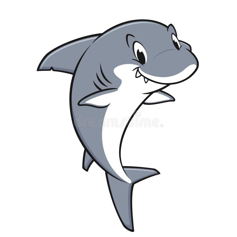 Kreskówka Życzliwy rekin ilustracja wektor