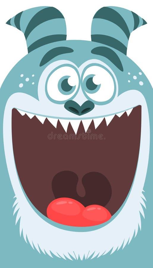 Kreskówka yeti potwór Wektorowa ilustracja Bigfoot sasquatch ilustracja wektor