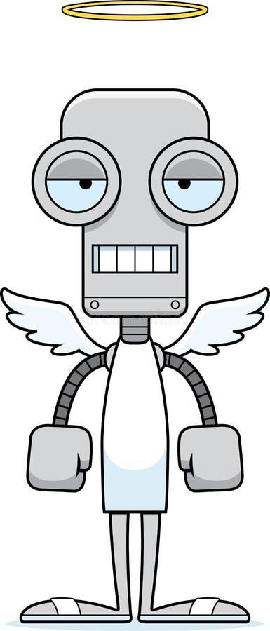 Kreskówka Zanudzający anioła robot royalty ilustracja