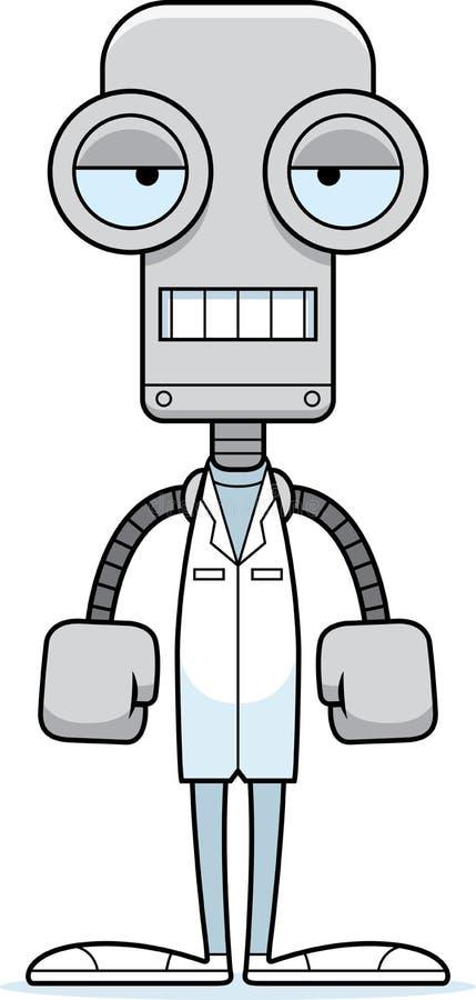Kreskówka Zanudzający Doktorski robot ilustracja wektor