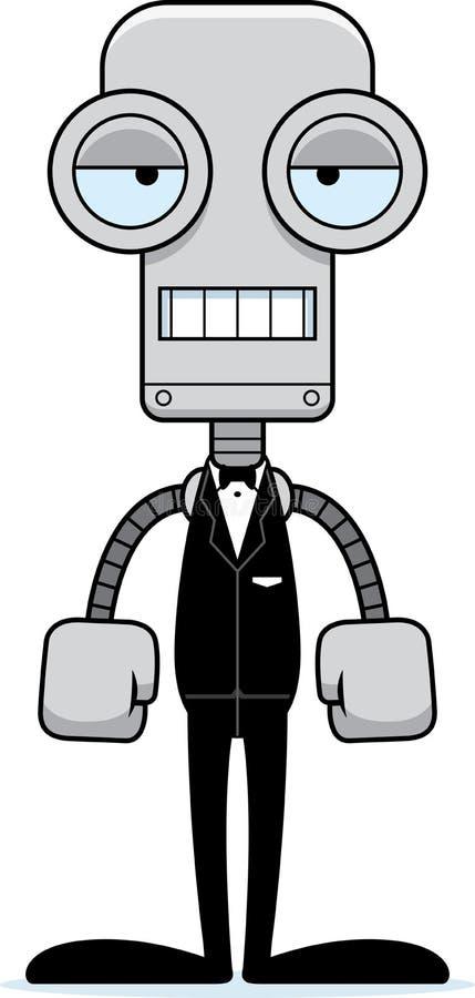 Kreskówka Zanudzający fornala robot royalty ilustracja