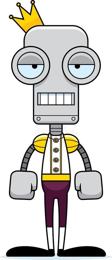 Kreskówka Zanudzający książe robot royalty ilustracja