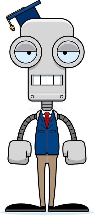 Kreskówka Zanudzający nauczyciela robot ilustracja wektor