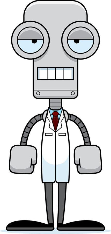 Kreskówka Zanudzający naukowa robot royalty ilustracja