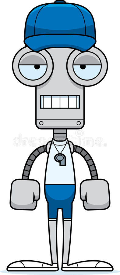 Kreskówka Zanudzający Powozowy robot ilustracji