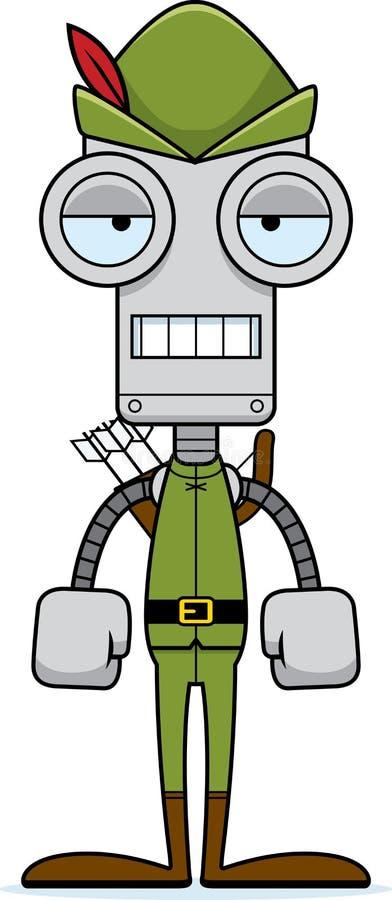 Kreskówka Zanudzający rudzika kapiszonu robot ilustracja wektor