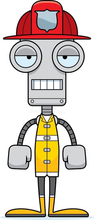 Kreskówka Zanudzający strażaka robot royalty ilustracja