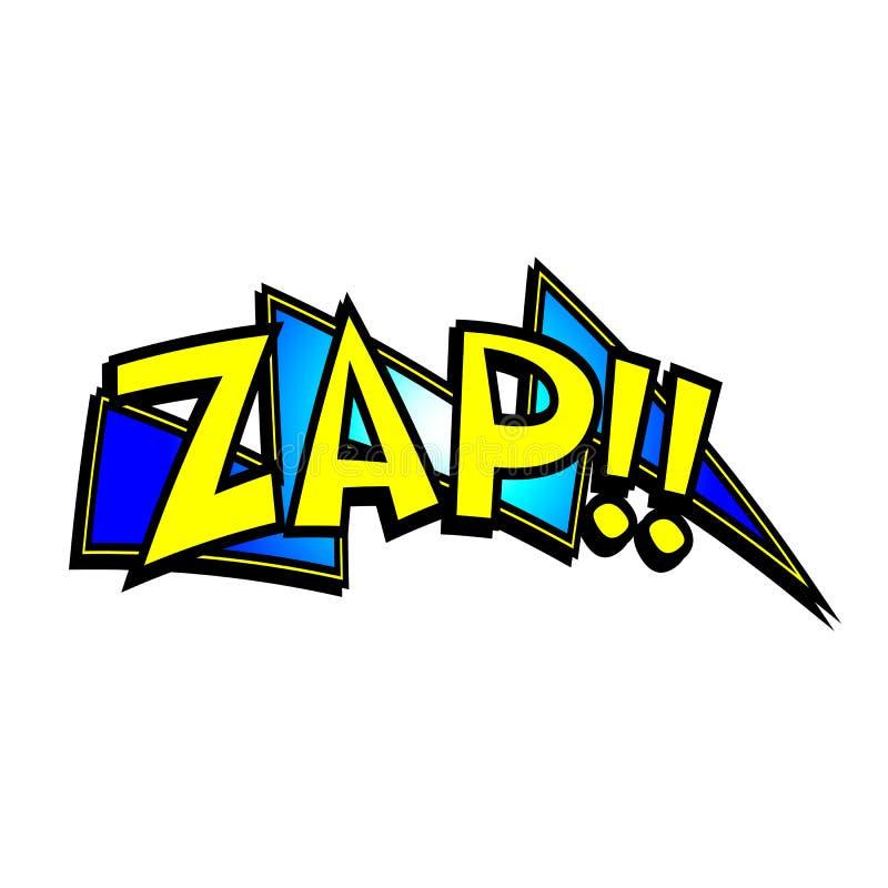 Kreskówka Zap dźwięka ilustracji