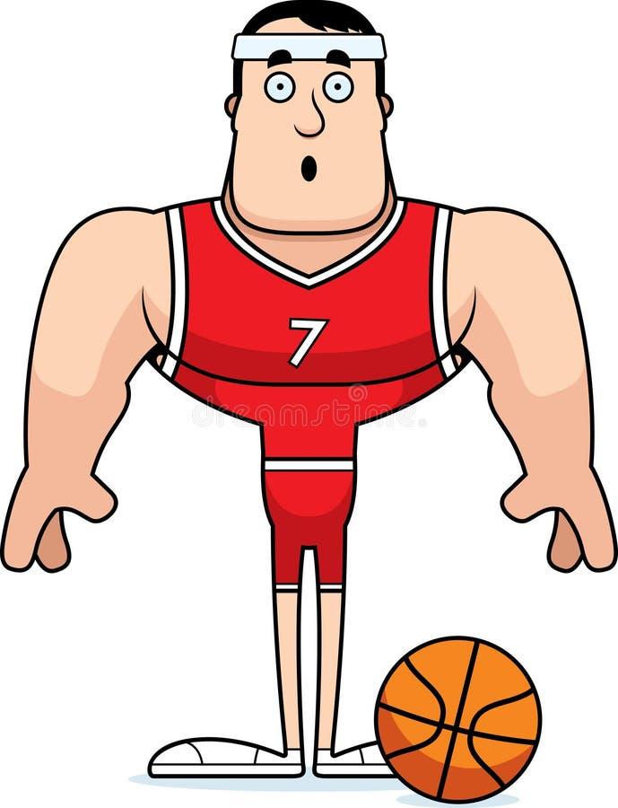 Kreskówka Zdziwiony gracz koszykówki ilustracji