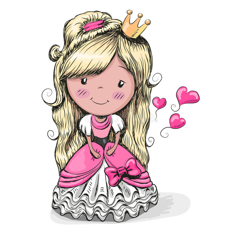 Kreskówki Ładny Princess ilustracji