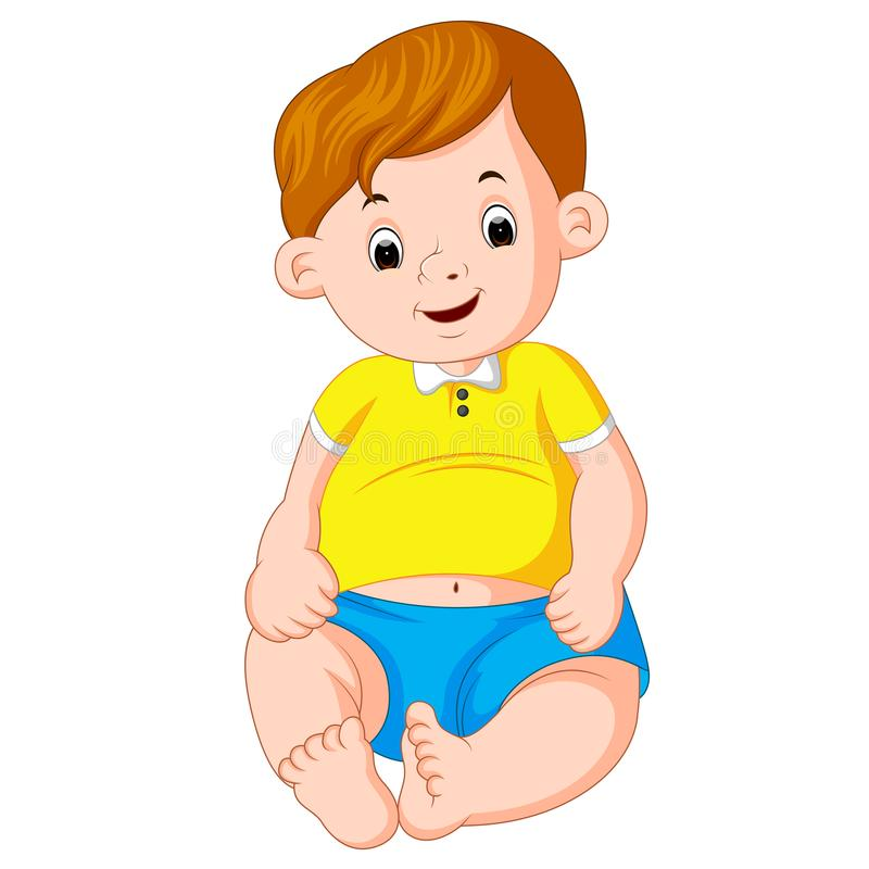 Kreskówki śliczny dziecko ilustracja wektor